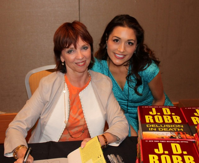 with Nora Roberts at the literacy signing