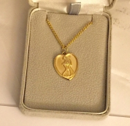 Golden Heart Necklace 2